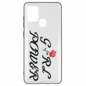 Etui na Samsung A21s Girl power rose