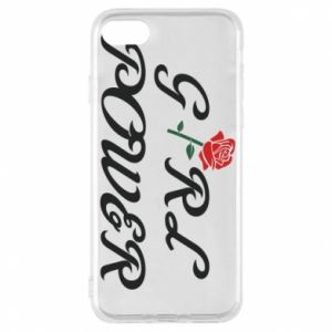 Phone case for iPhone 8 Girl power rose