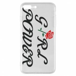 Phone case for iPhone 8 Plus Girl power rose