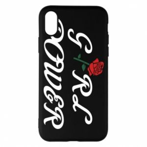 Phone case for iPhone X/Xs Girl power rose