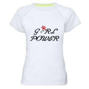 Koszulka sportowa damska Girl power rose