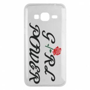 Etui na Samsung J3 2016 Girl power rose