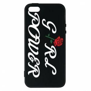 Etui na iPhone 5/5S/SE Girl power rose