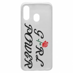 Phone case for Samsung A40 Girl power rose