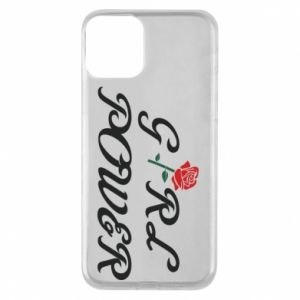 Phone case for iPhone 11 Girl power rose