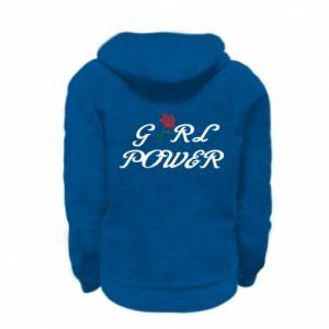 Bluza na zamek dziecięca Girl power rose