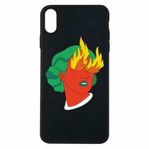 Phone case for iPhone Xs Max Girl With Fire