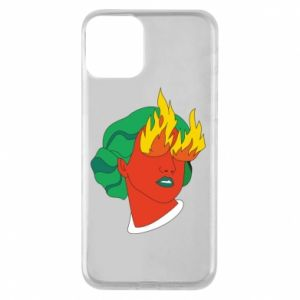 Phone case for iPhone 11 Girl With Fire