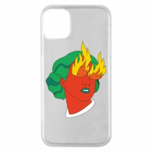 Phone case for iPhone 11 Pro Girl With Fire