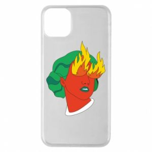 Phone case for iPhone 11 Pro Max Girl With Fire