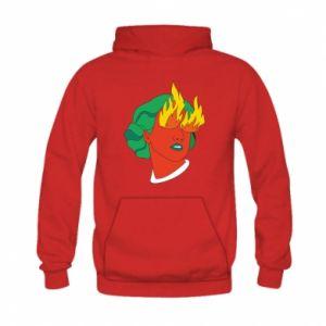 Bluza z kapturem dziecięca Girl With Fire