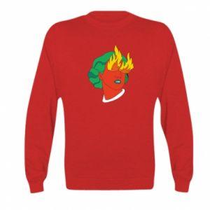 Bluza dziecięca Girl With Fire