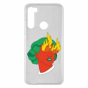 Etui na Xiaomi Redmi Note 8 Girl With Fire