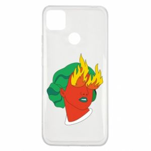Etui na Xiaomi Redmi 9c Girl With Fire