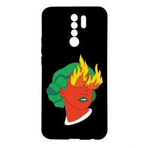 Etui na Xiaomi Redmi 9 Girl With Fire