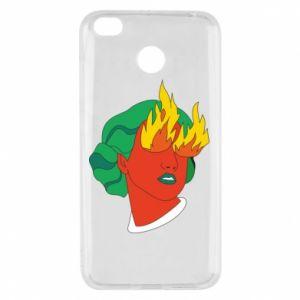 Etui na Xiaomi Redmi 4X Girl With Fire