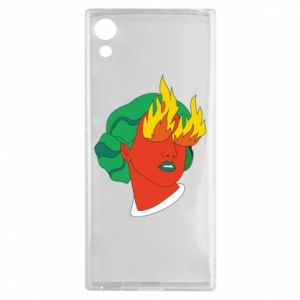 Etui na Sony Xperia XA1 Girl With Fire