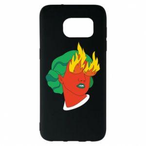 Etui na Samsung S7 EDGE Girl With Fire