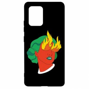 Etui na Samsung S10 Lite Girl With Fire