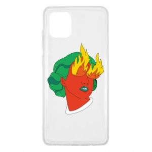 Etui na Samsung Note 10 Lite Girl With Fire