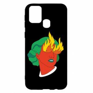 Etui na Samsung M31 Girl With Fire