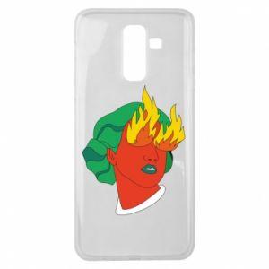 Etui na Samsung J8 2018 Girl With Fire