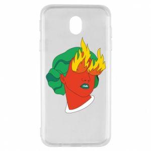 Etui na Samsung J7 2017 Girl With Fire