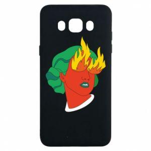 Etui na Samsung J7 2016 Girl With Fire