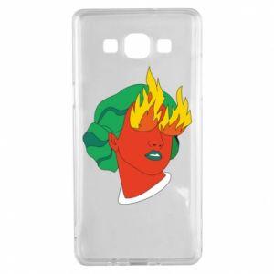 Etui na Samsung A5 2015 Girl With Fire
