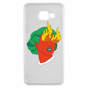 Etui na Samsung A3 2016 Girl With Fire