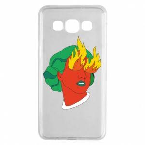 Etui na Samsung A3 2015 Girl With Fire