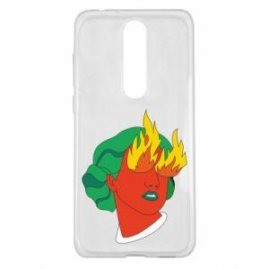 Etui na Nokia 5.1 Plus Girl With Fire