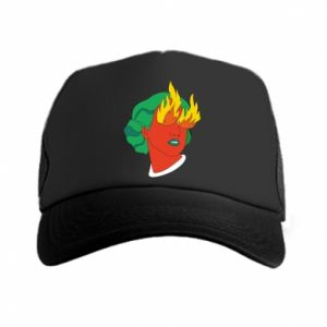 Trucker hat Girl With Fire