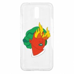 Etui na Nokia 2.3 Girl With Fire