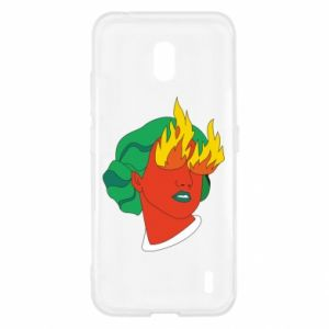 Etui na Nokia 2.2 Girl With Fire