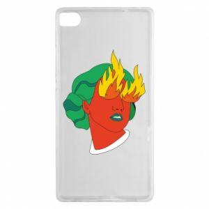 Etui na Huawei P8 Girl With Fire