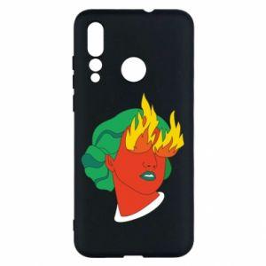 Etui na Huawei Nova 4 Girl With Fire