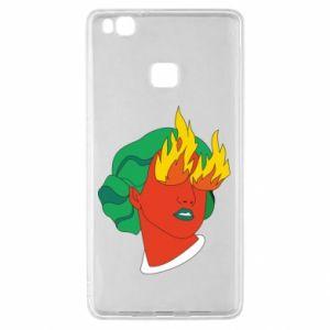 Etui na Huawei P9 Lite Girl With Fire
