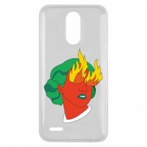 Etui na Lg K10 2017 Girl With Fire