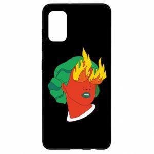 Etui na Samsung A41 Girl With Fire