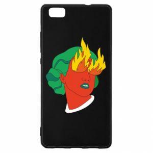 Etui na Huawei P 8 Lite Girl With Fire