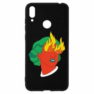 Etui na Huawei Y7 2019 Girl With Fire