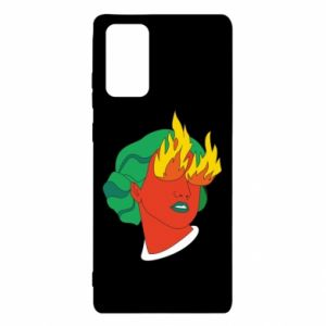 Etui na Samsung Note 20 Girl With Fire