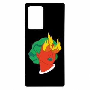 Etui na Samsung Note 20 Ultra Girl With Fire