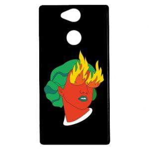 Etui na Sony Xperia XA2 Girl With Fire