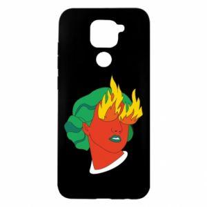 Etui na Xiaomi Redmi Note 9/Redmi 10X Girl With Fire