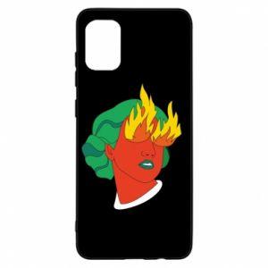 Etui na Samsung A31 Girl With Fire