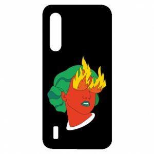 Etui na Xiaomi Mi9 Lite Girl With Fire