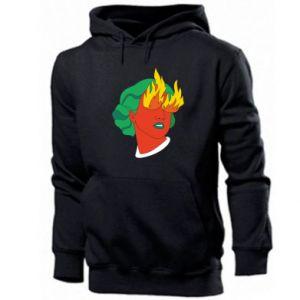 Men's hoodie Girl With Fire