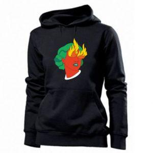 Women's hoodies Girl With Fire